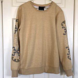EUC Nanette Lepore Sweatshirt with beaded sleeves